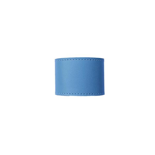 blue leather napkin ring