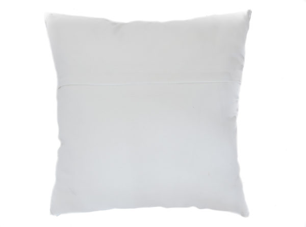 Back of pillow in white fabric