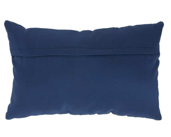 back of pillow in fabric.