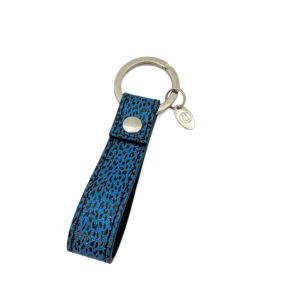 KEYCHAIN COLOUR BLUE LEOPARD BLACK