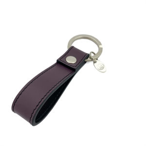 KEYCHAIN COLOUR DARK GRAPES BLACK - SINGLE STITCH
