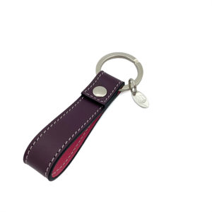 KEYCHAIN COLOUR DARK GRAPES PINK - SINGLE STITCH