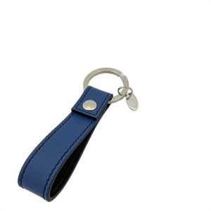 KEYCHAIN COLOUR ROYAL BLUE BLACK - SINGLE STITCH