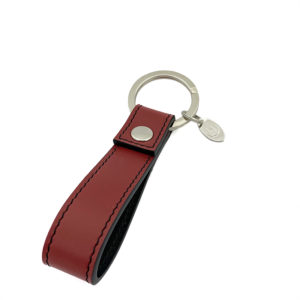 KEYCHAIN COLOUR WINE RED BLACK - SINGLE STITCH