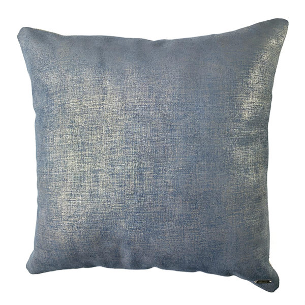 Leather cushion blue