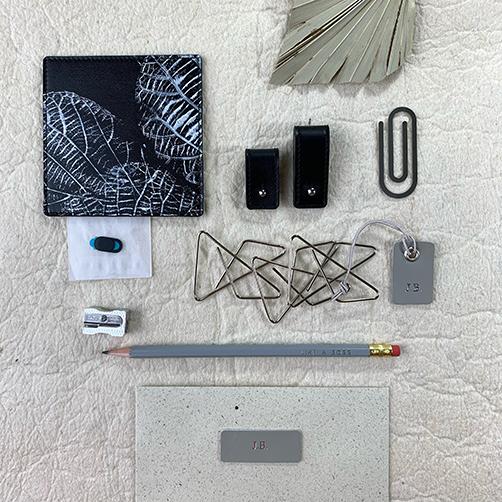 Inhoud home office cadeaubox zwarte kleur